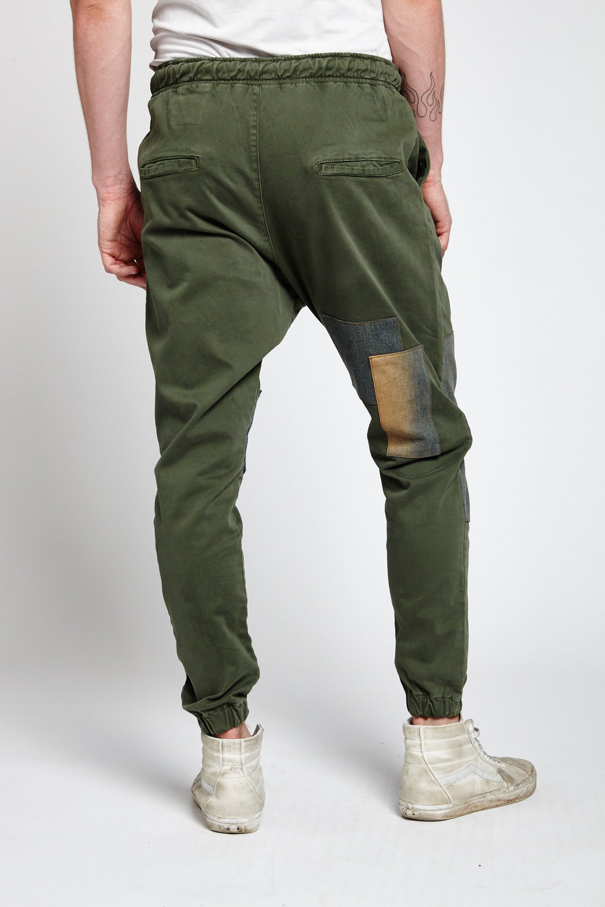 RETE GREEN COTTON SMALL JOGGER PANTS-BOTTOMS-Mundane Official-29-GREEN-Mundane Official