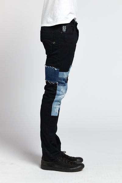 G-STAR RAW RECONSTRUCTED PATCHWORK COTTON BLACK 31 W JEANS-BOTTOMS-Mundane Official-31-BLACK-Mundane Official