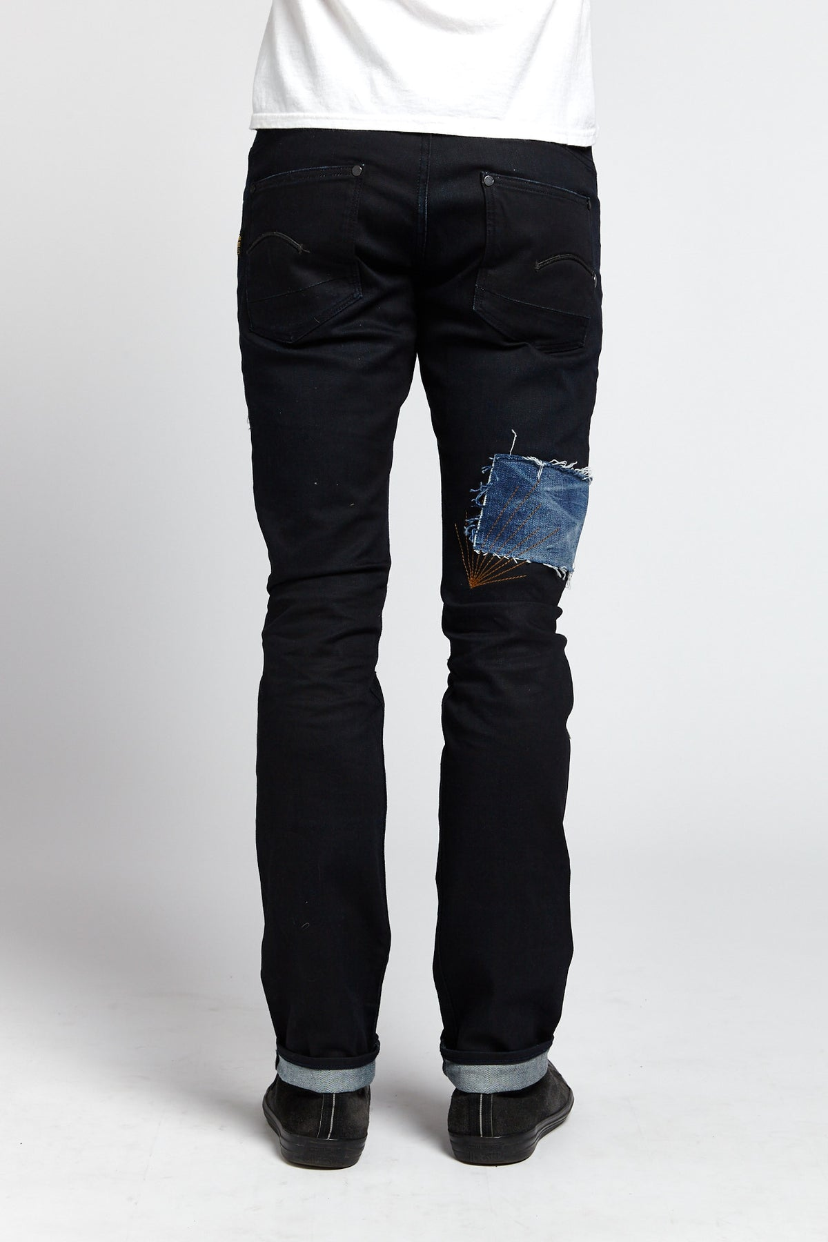 G-STAR RAW RECONSTRUCTED PATCHWORK COTTON BLACK 33 W JEANS-BOTTOMS-Mundane Official-33-BLACK-Mundane Official