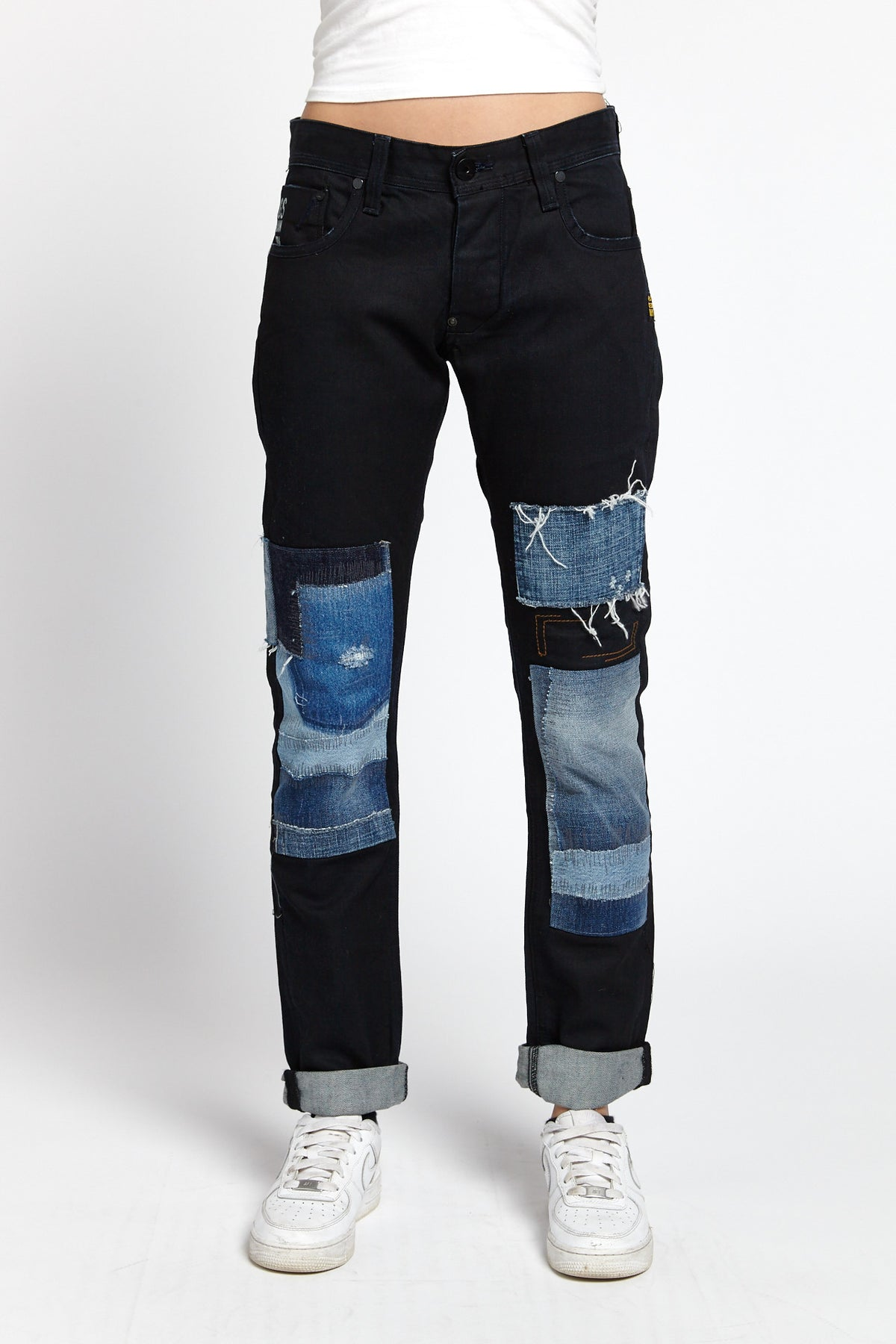 G-STAR RAW RECONSTRUCTED PATCHWORK COTTON BLACK 30 W JEANS-BOTTOMS-Mundane Official-30-BLACK-Mundane Official