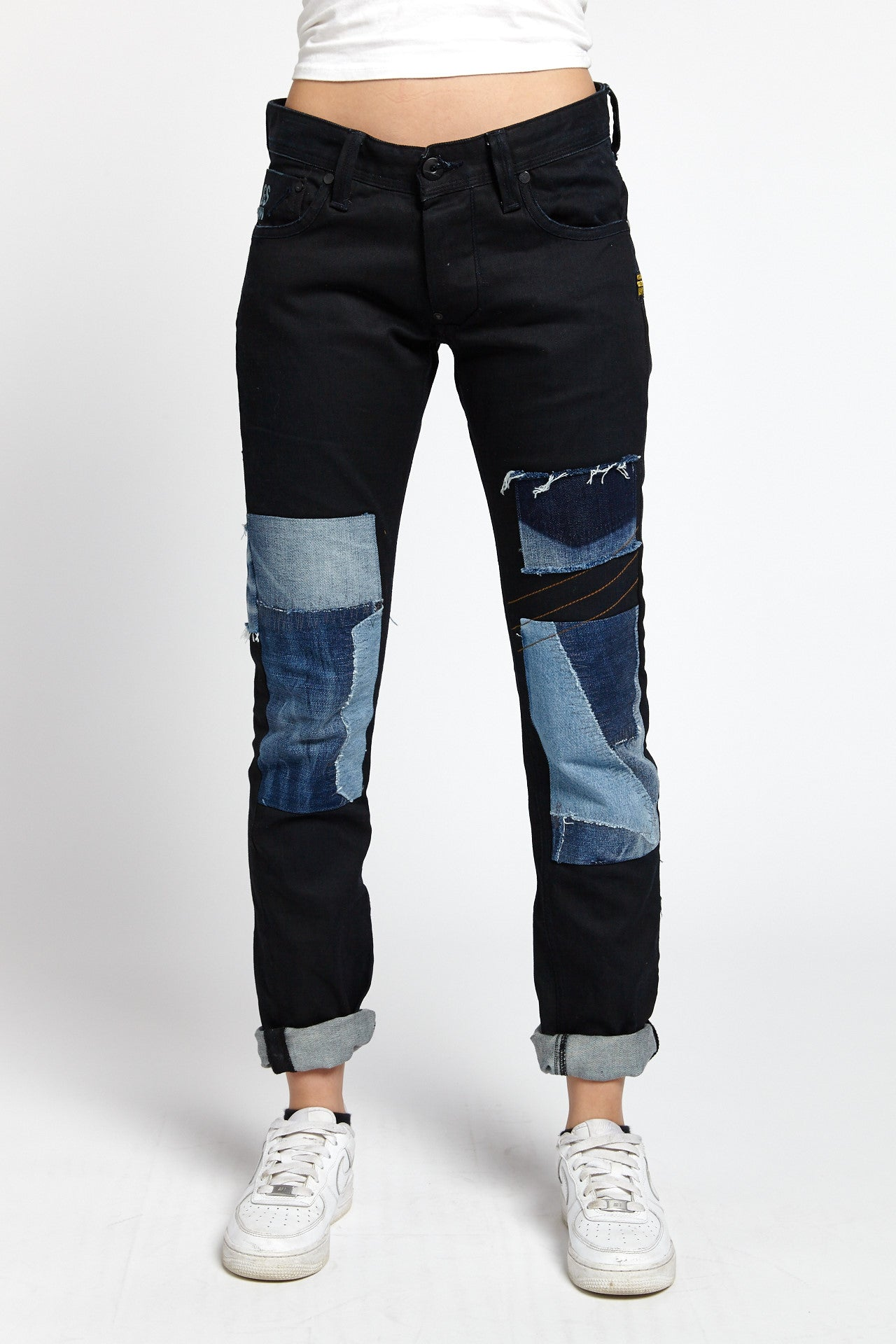 G-STAR RAW RECONSTRUCTED PATCHWORK COTTON BLACK 29 W JEANS-BOTTOMS-Mundane Official-29-BLACK-Mundane Official