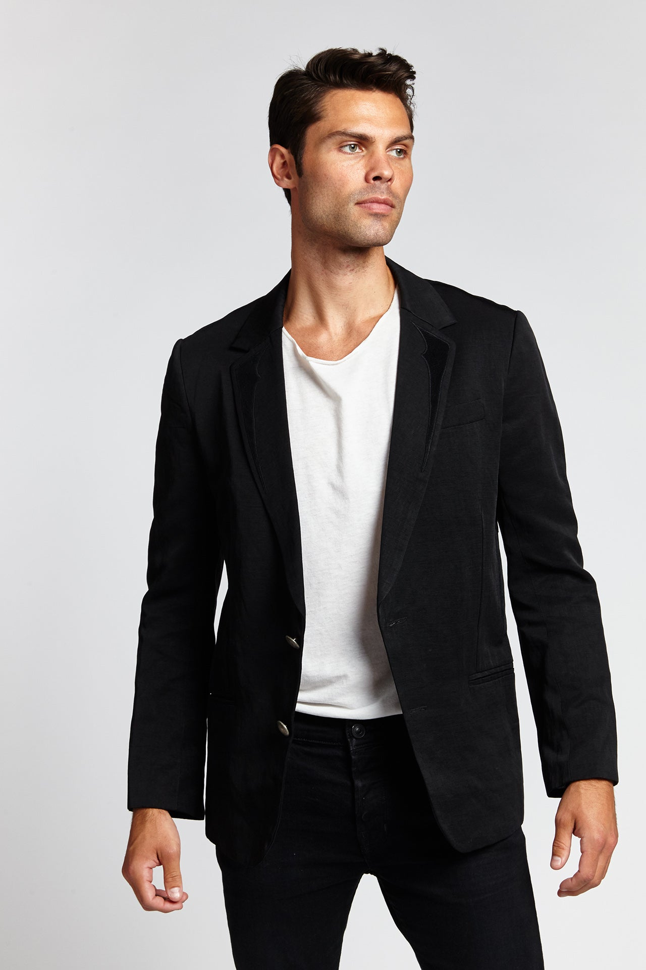 NASSU BLACK MEDIUM BLAZER-JACKETS-Mundane Official-M-Mundane Official