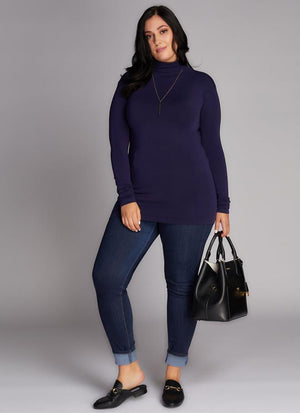 Open image in slideshow, C'est Moi Turtleneck Top Plus Size