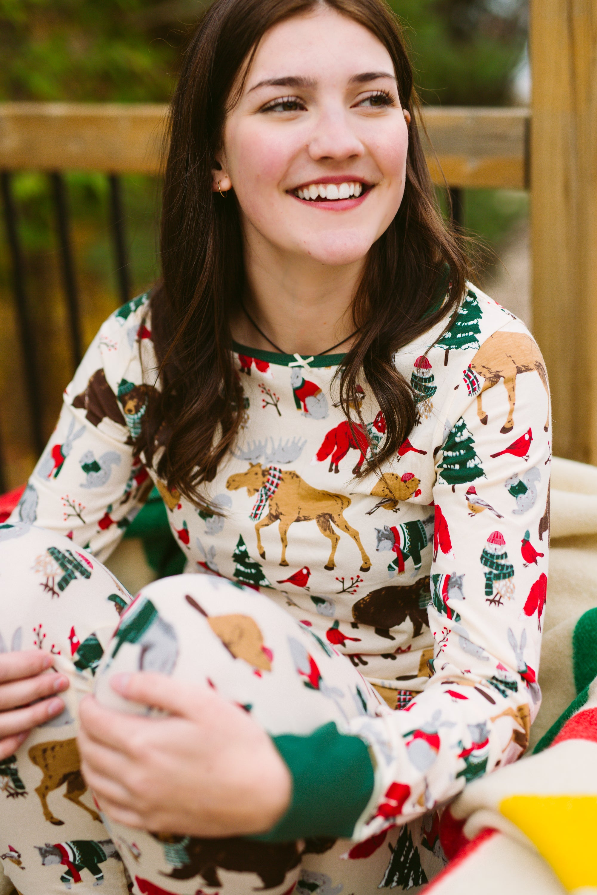 Womens PJ Set - Woodland Winter