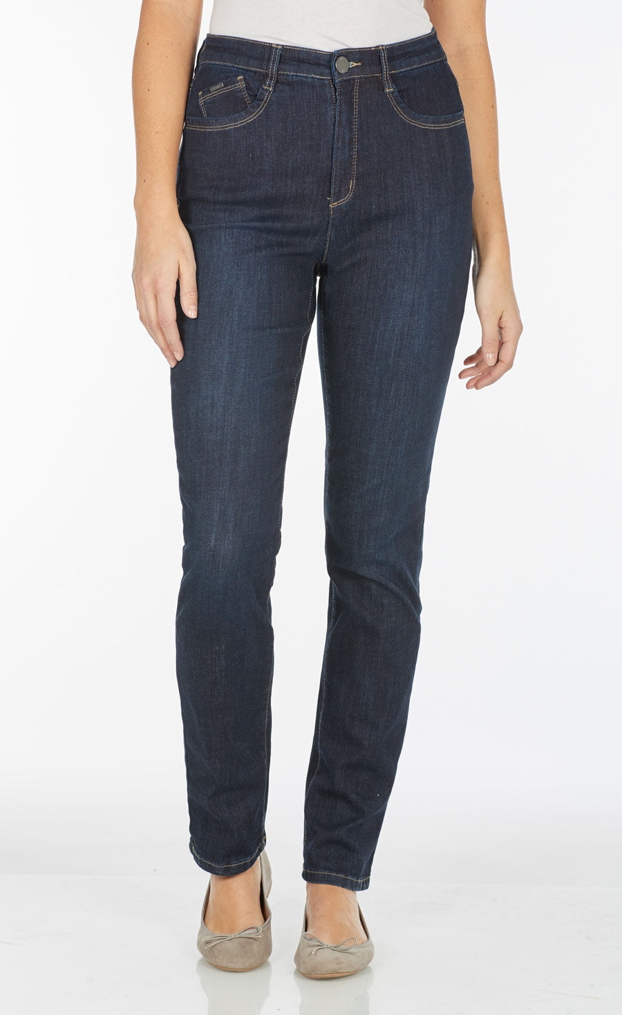 FDJ Jean Peggy Straight Leg Coolmax Denim