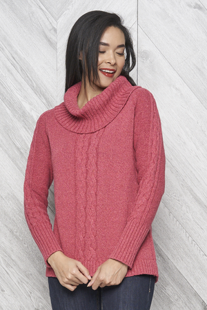 Open image in slideshow, Parkhurst Cotton Country Bailey Cowl Neck High Low Pullover