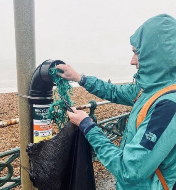 Fishing net recycle points installed on Brighton seafront