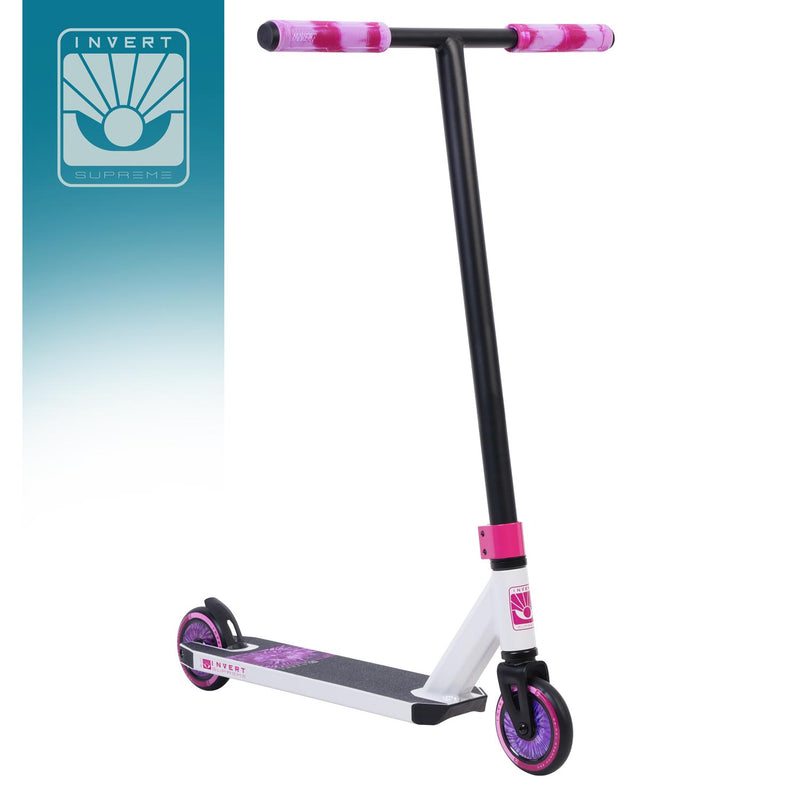 Invert Supreme 1-7-12 Scooter - White/Black/Pink