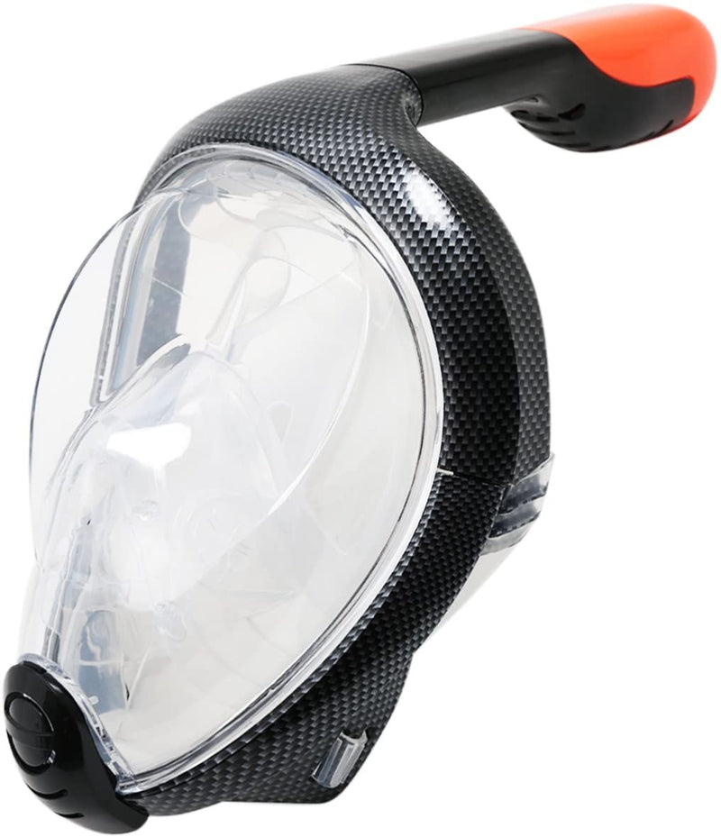 Adult Sea Galaxy Full Face Snorkel Mask (Carbon)