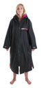Dryrobe Long sleeve changing robe - Black/ pink