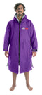 Dryrobe Long sleeve changing robe - Purple/ grey