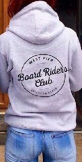 West Pier Clothing Company 'Board Riders' hoody - grey