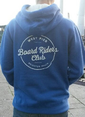 West Pier Clothing Company 'Board Riders' hoody - blue