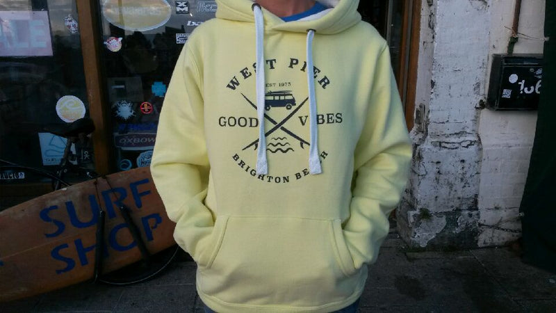 West Pier Clothing Company 'Board Riders' hoody - yellow