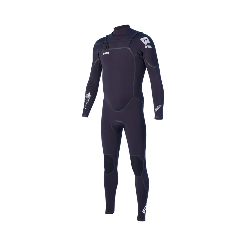 Buell RB1 Accelerator 3/2mm Full FZ Wetsuit - Men's (Black/Graphite)