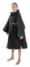 Kids Dryrobe short sleeve changing robe - Black/ blue