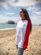 West Pier Raglan top - Red