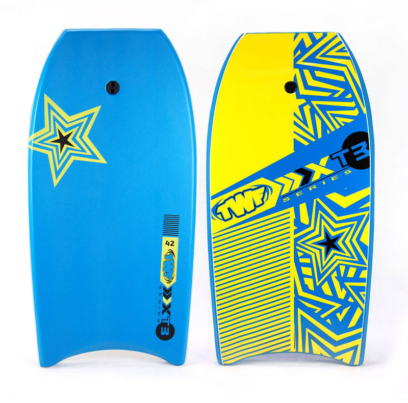 XPE Slick Back Bodyboard Blue and Yellow