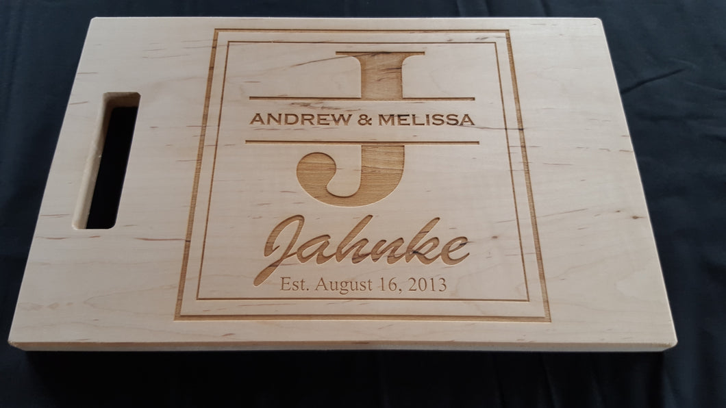 Wedding Box Design Cutting Board