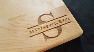 Names & Last Initial Cutting Board