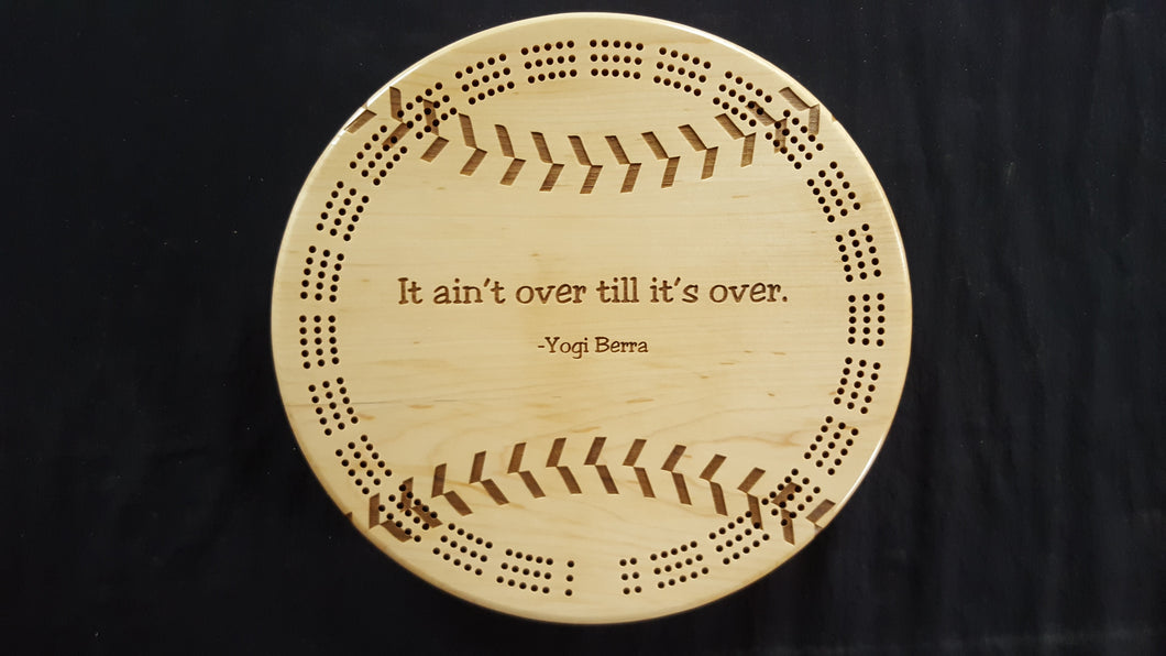 Baseball/Softball Cribbage Board