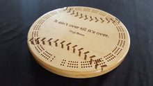 Load image into Gallery viewer, Baseball/Softball Cribbage Board