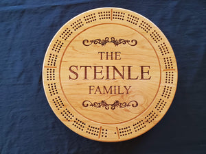 Classical Design Cribbage Board