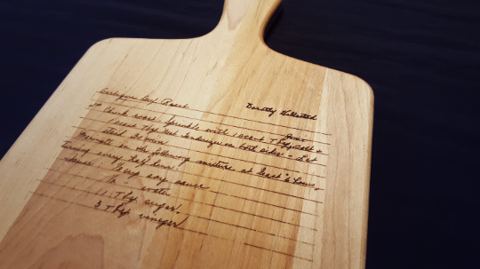 Handwritten Recipe Board with Handle