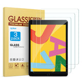 [3 Pack] Screen Protector for iPad 10.2 Inch 2019 Release, apiker Tempered Glass Screen Protector Compatible with Apple Pencil