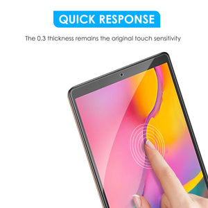 [2 Pack] 2019 Galaxy Tab A 10.1 Screen Protector, apiker High Definition Tempered Glass Screen Protector for Samsung Galaxy Tab A 10.1 SM-T515 / T510