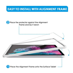 [3 Pack] Screen Protector for Surface Pro 7/Surface Pro 6 / Surface Pro (5th Gen) / Surface Pro 4, apiker Tempered Glass Screen Protector with [Alignment Frame] [High Definition]