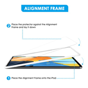 [3 Pack] Screen Protector for 2018 iPad Pro 11, apiker Tempered Glass Screen Protector [Support Apple Pencil and Face ID] [Alignment Frame]