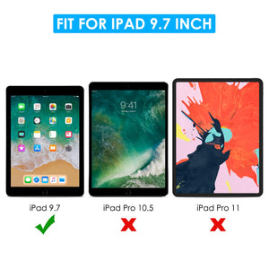 [3 Pack] Screen Protector for iPad 9.7 (2018 & 2017) / iPad Pro 9.7, apiker Tempered Glass Screen Protector Compatible with Apple Pencil