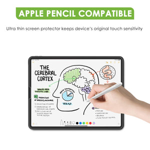 [3Pack] Screen Protector for 2018 iPad Pro 12.9 (3rd Generation), apiker Tempered Glass Screen Protector [Work with Apple Pencil and Face ID]