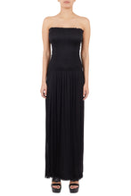 Load image into Gallery viewer, Nike black silk-tulle strapless dress