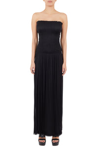 Nike black silk-tulle strapless dress