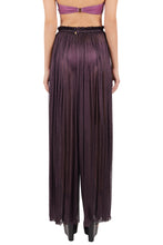 Load image into Gallery viewer, Tegea delian fuchsia crinkled silk-tulle pants