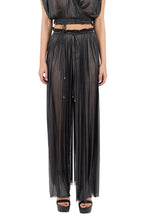 Load image into Gallery viewer, Tegea volcano silver crinkled silk-tulle pants