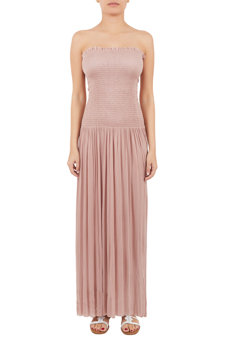 Nike nude silk-tulle strapless dress