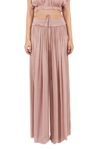 New Tegea nude silk-tulle pants