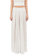 Load image into Gallery viewer, New Tegea white silk-tulle pants
