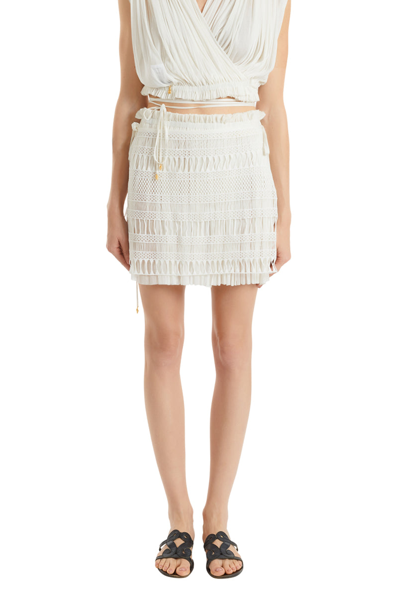 Knossos white Antigone mini skirt