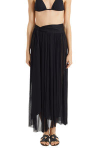 Delfis black asymmetric skirt