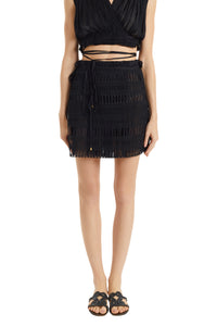 Knossos black Antigone mini skirt
