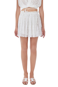Antigone Mando white skirt
