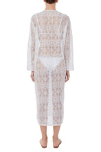 Load image into Gallery viewer, Cemeli white kaftan