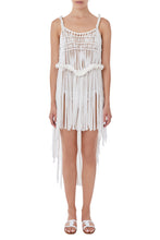 Load image into Gallery viewer, Kiveli white crochet cover up