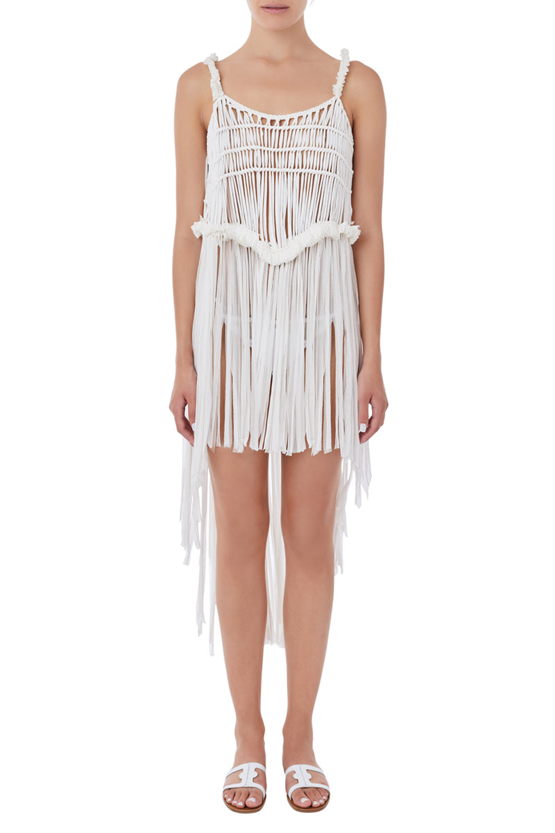 Kiveli white crochet cover up