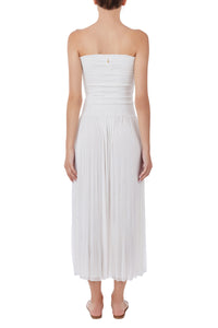 Nike white strapless dress