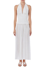 Load image into Gallery viewer, Tyche white silk-tulle jumpsuit